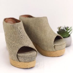 JEFFREY CAMPBELL Virgo Woven Wedge Platform Slide